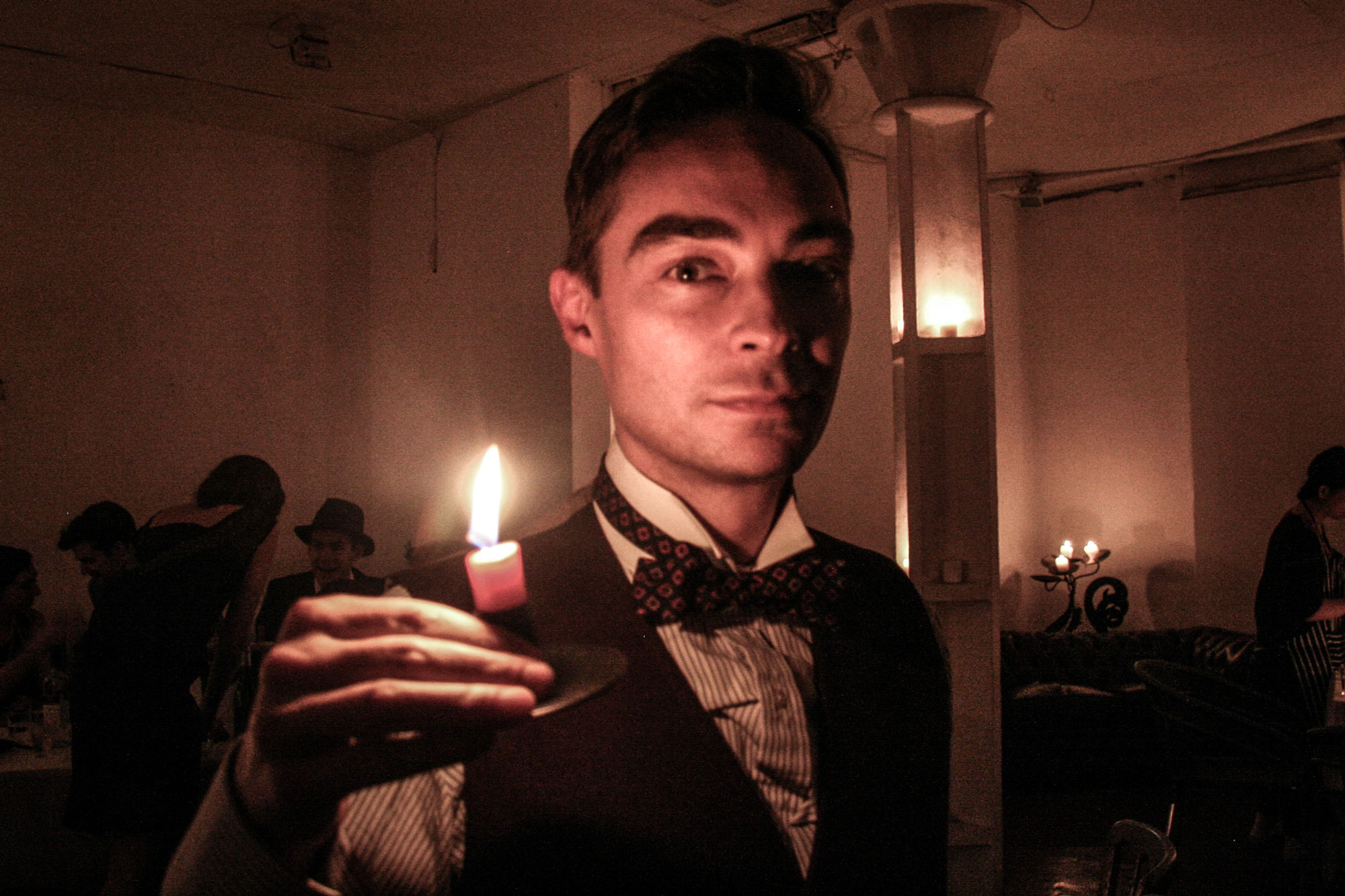 Clayton at the very first Candlelight Club in October 2010 -