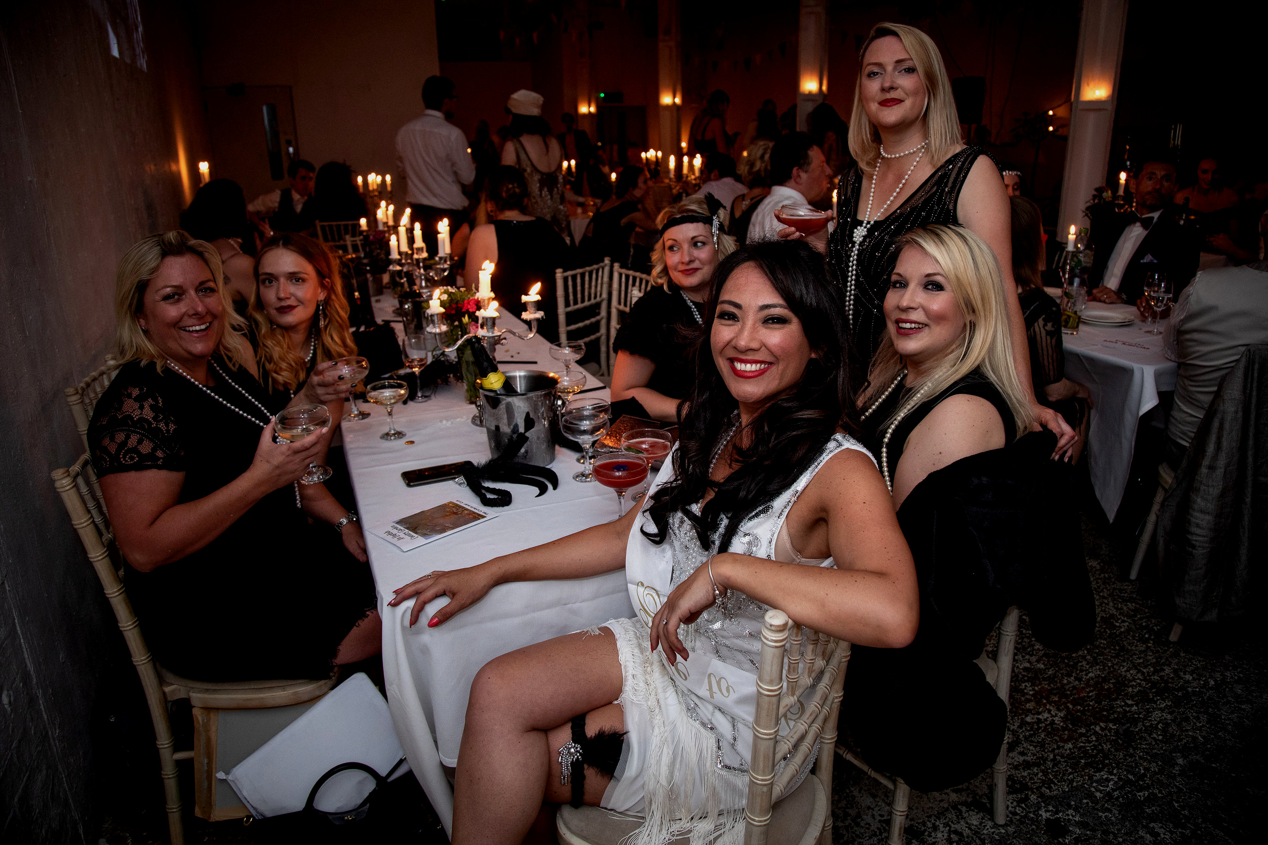 The Candlelight Club parties are perfect for hen parties to enjoy a night out full of glamour and glitz