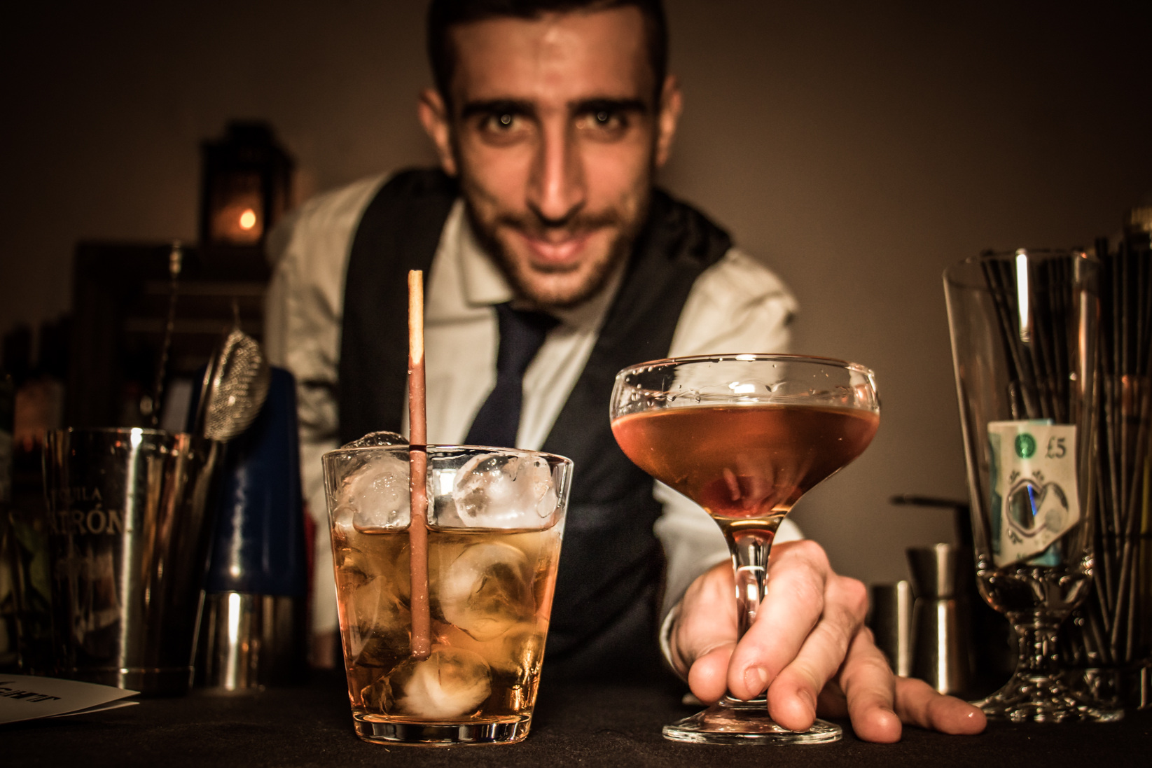 Allow our master mixologists to create the perfect tipple to celebrate your big day
