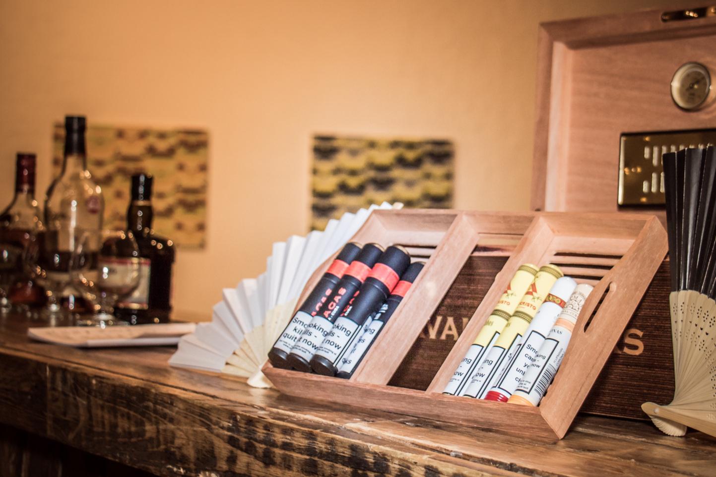 Enjoy an authentic Cuban at our secret cigar bar?