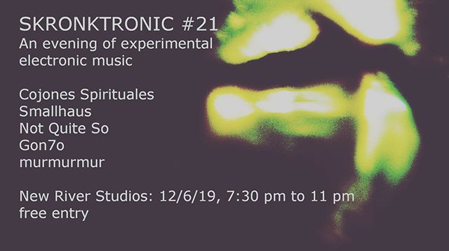 Not Quite So, busy this Wednesday. #london #experimentalmusic #improv #hallucinogen #electronicmusic #newriverstudios