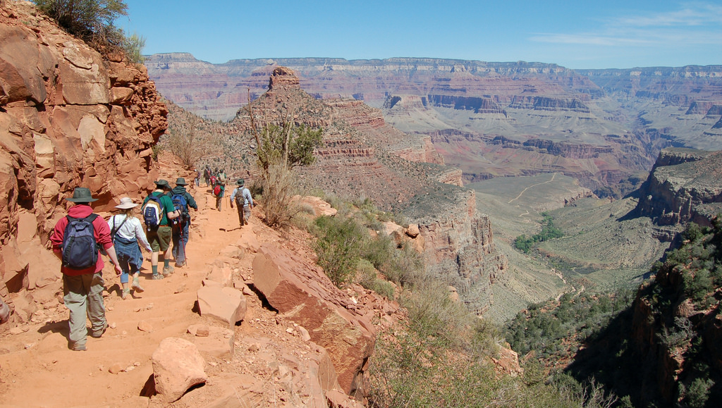 The Bright Angel Trail: beautiful, but well-traveled.