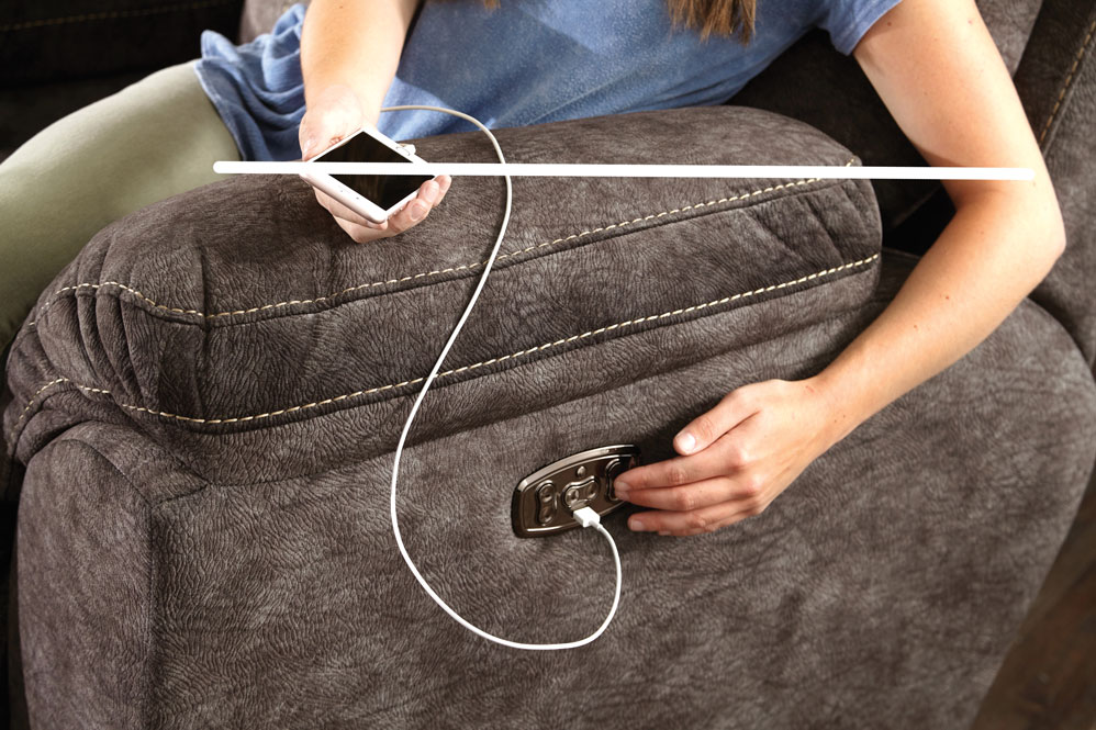 USB chargers on most power reclining sets