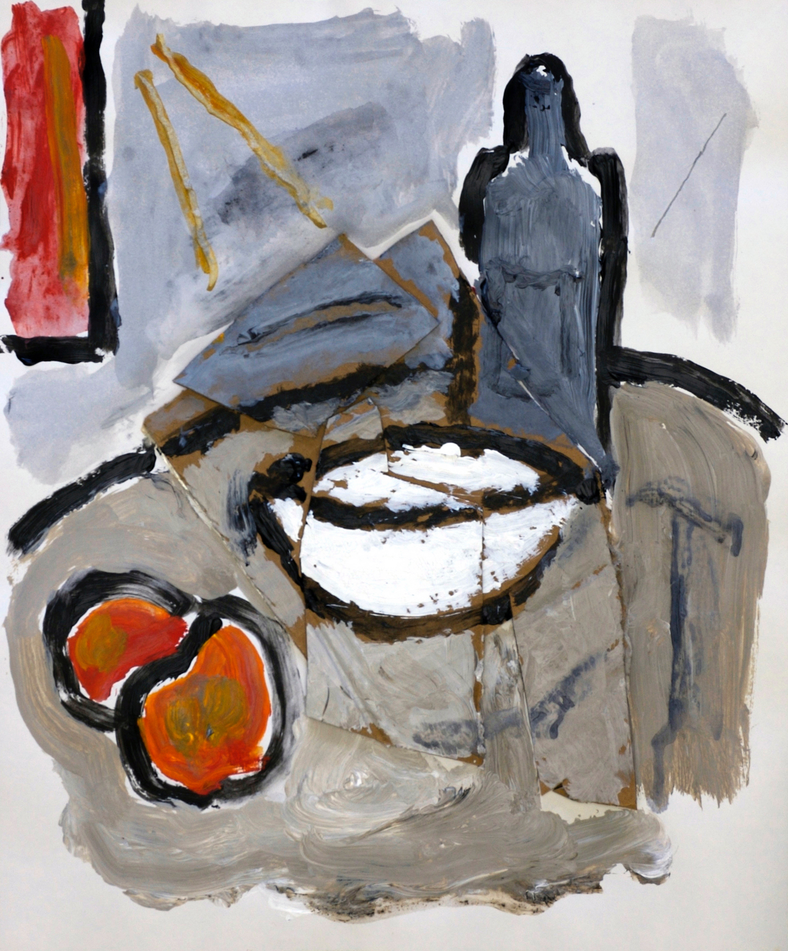 Still Life with White Bowl (after Cézanne)