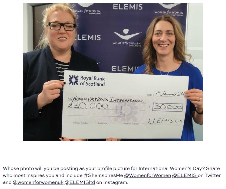 Oriele Frank ELEMIS Women for Women International cheque presentation.png