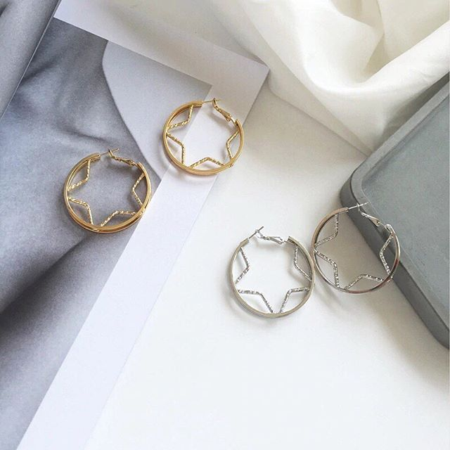 Our star hoops are back in stock after popular demand!! 😍😍