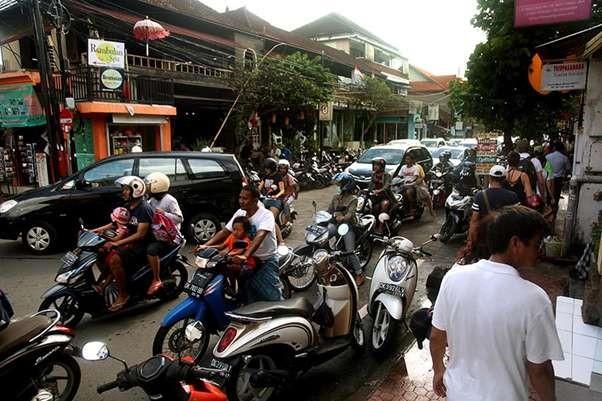 Downtown Ubud in reality