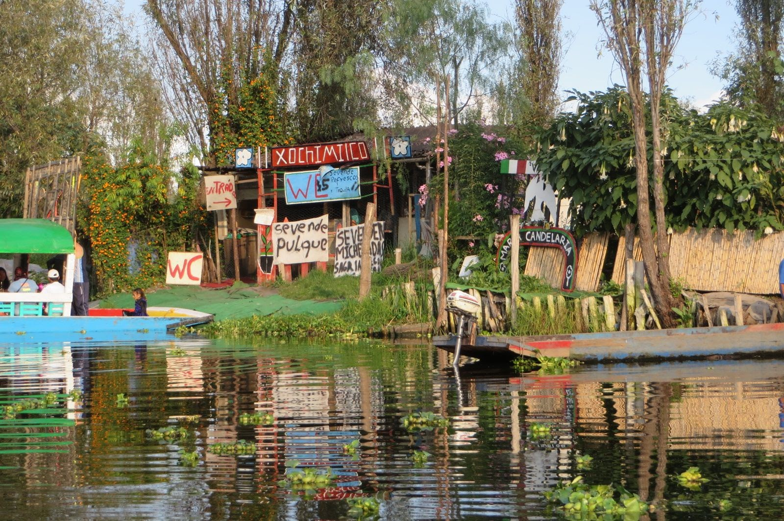 An example of a canal-side vendor and bathroom!!