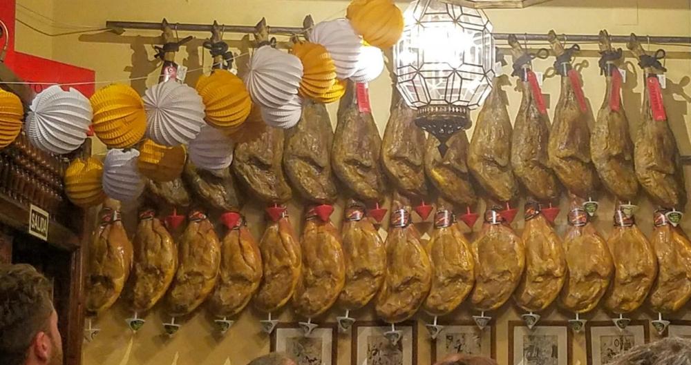 Sooooo much Iberico ham....