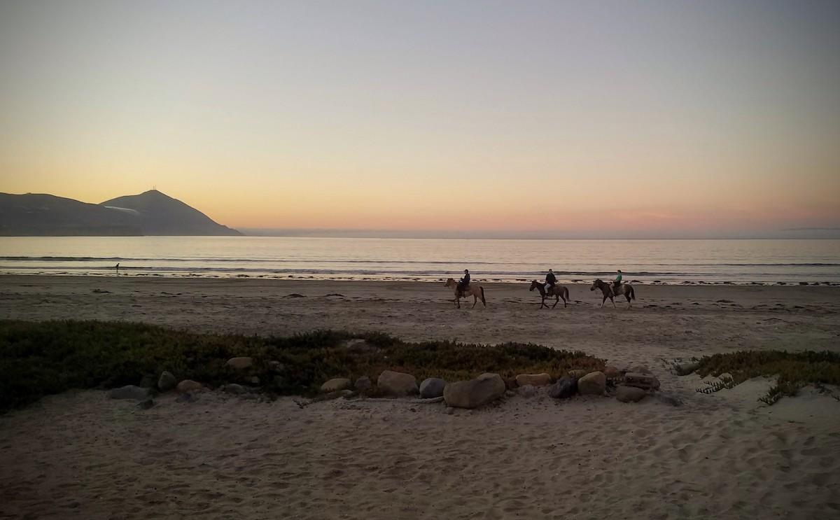 Sunset views on the beach south of Ensenada