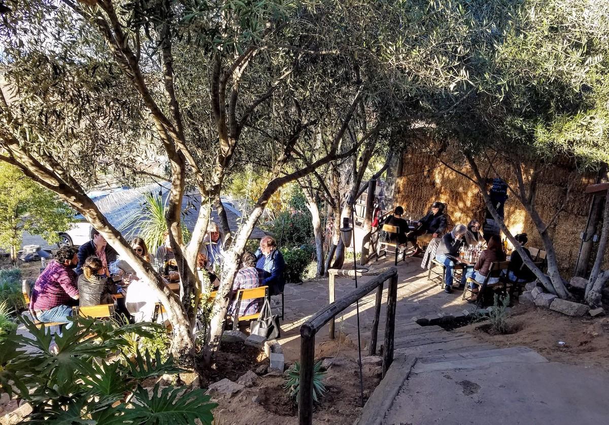 Outdoor dining at Malva
