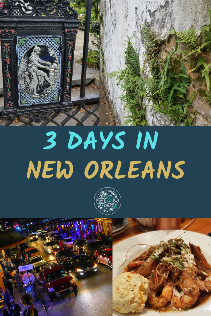 what to see and do in 3 days in New Orleans Louisiana. Tips for solo travelers, pub crawls, cemeteries, museums, jazz, swamp tours, beignets, neighborhood bike rides, and more #travel #neworleans