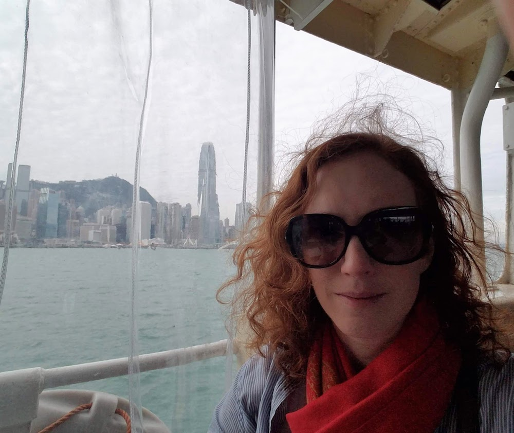 Beautiful view and ratty, wind-swept hair