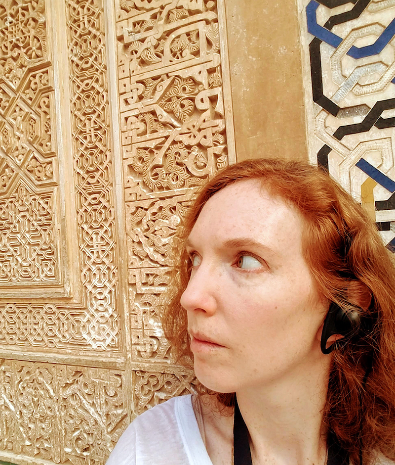 This is me pretending I'm staring at the intricate carvings and not listening in on the guided tours