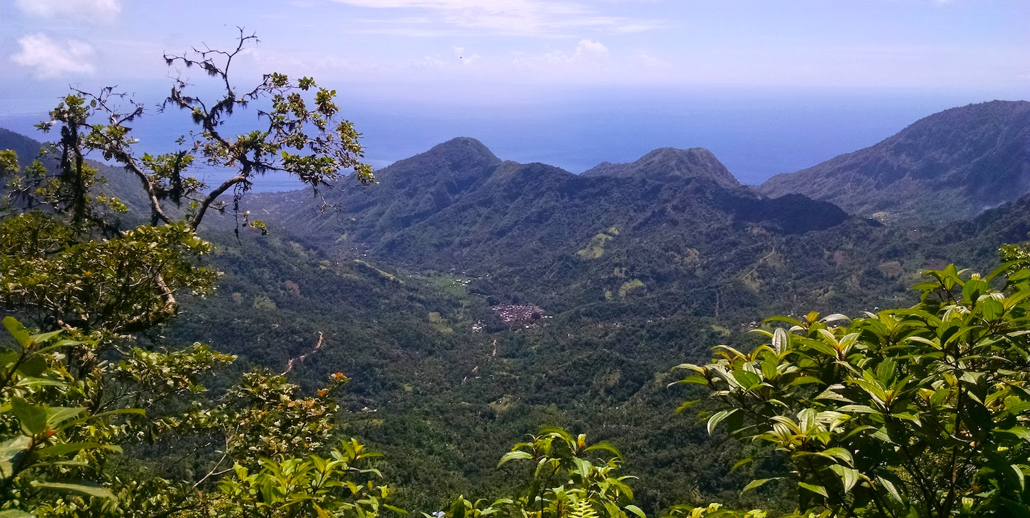 The view from temple #6, overlooking the valley out to the ocean
