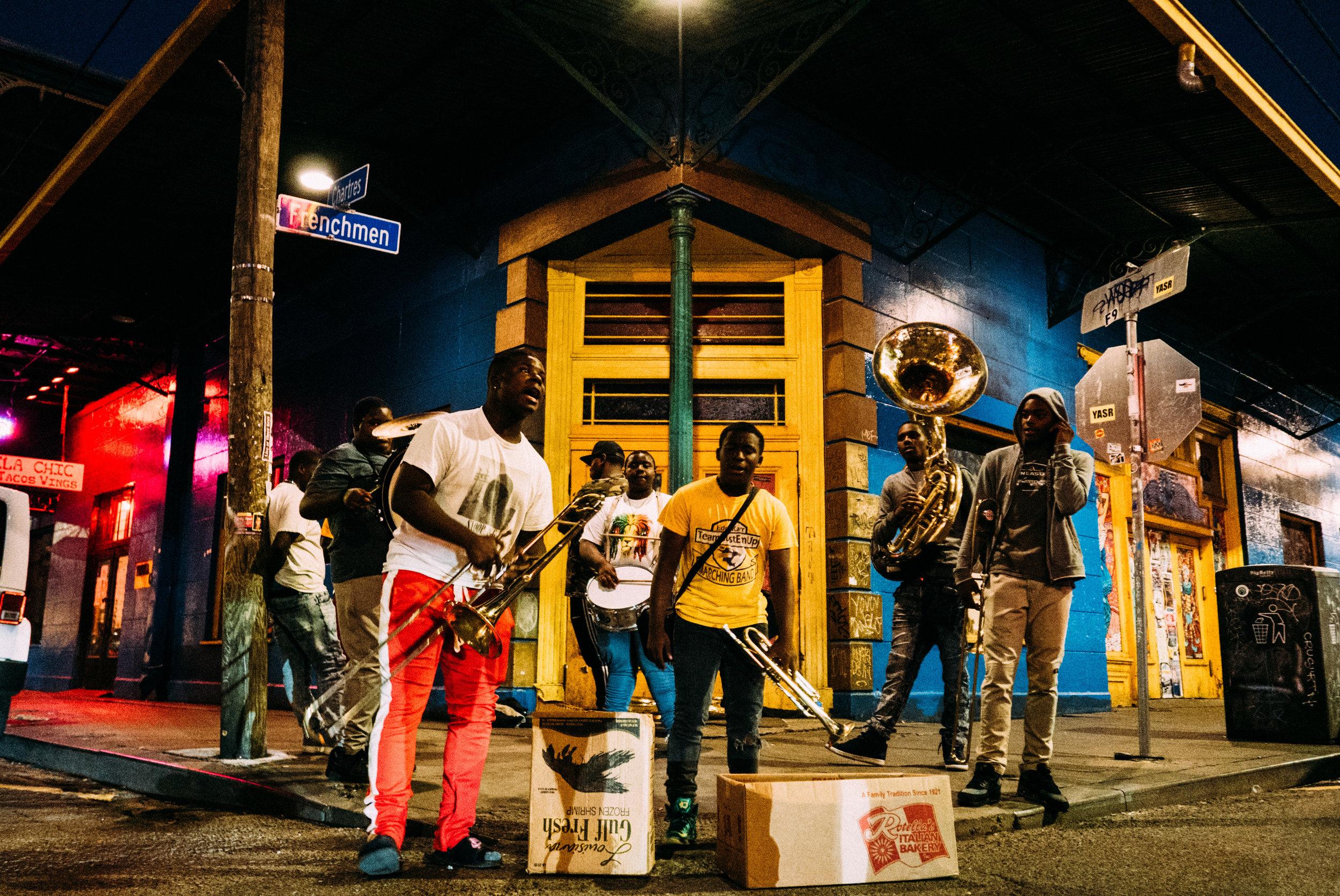 Street musicians on Frenchmen Street