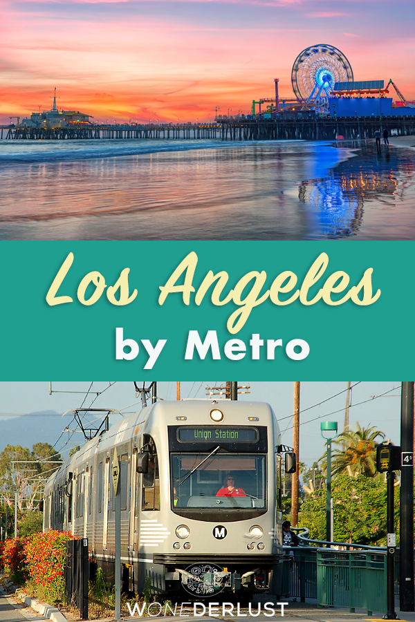 What to see in do in Los Angeles in four days when you don't have a car. There's a lot you can visit using only public transportation! Including trips to Santa Monica and the beach, museums, Hollywood, downtown, Little Tokyo, Pasadena, and more. #travel #losangeles