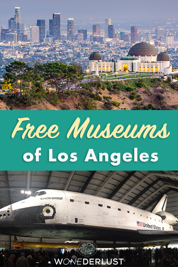 Find out the top free, cheap, and offbeat museums in Los Angeles. From Roman villas to Neon art to Infinity Rooms to space shuttles and more! #travel #losangeles #california