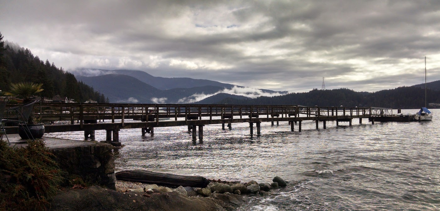 The pier at Deep Cove