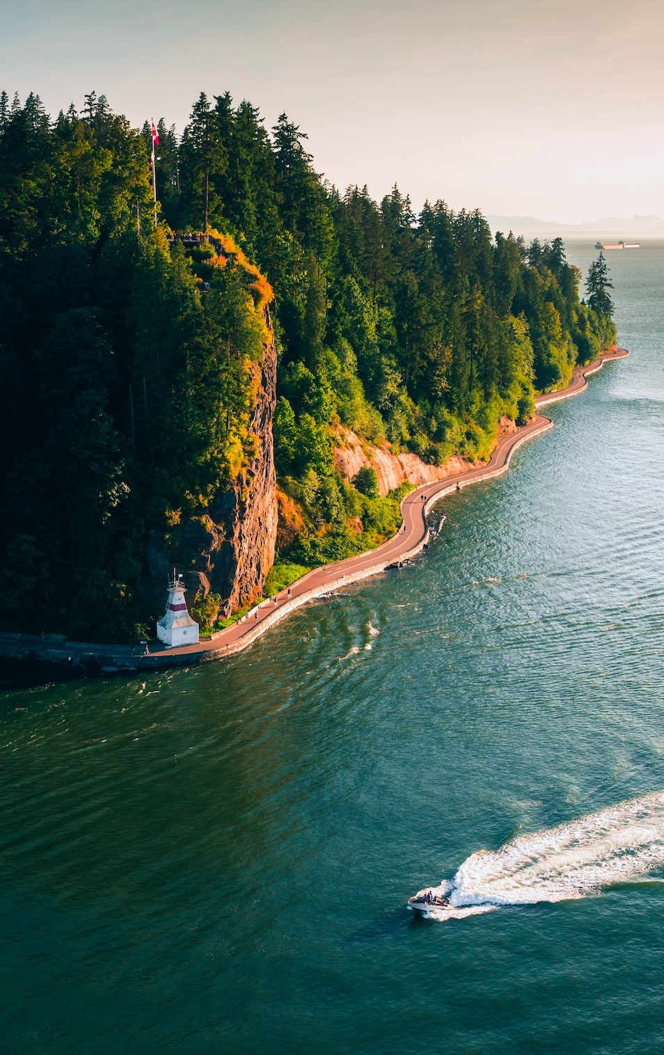 Stanley Park from above - definitely do a trip around the Seawall