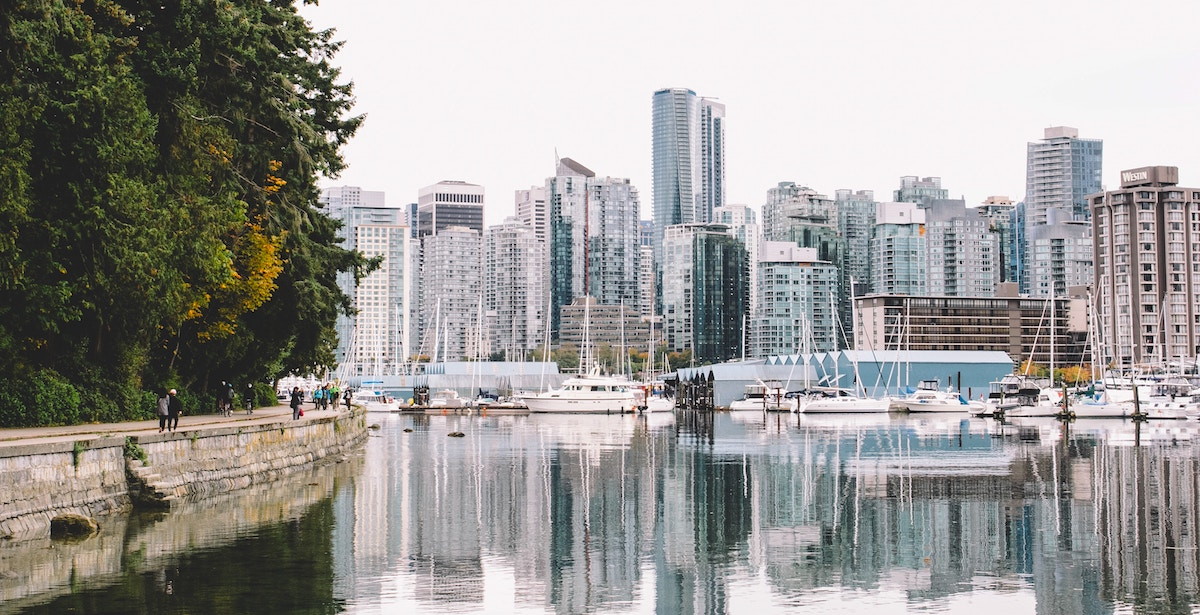 View of the city from Stanley Park