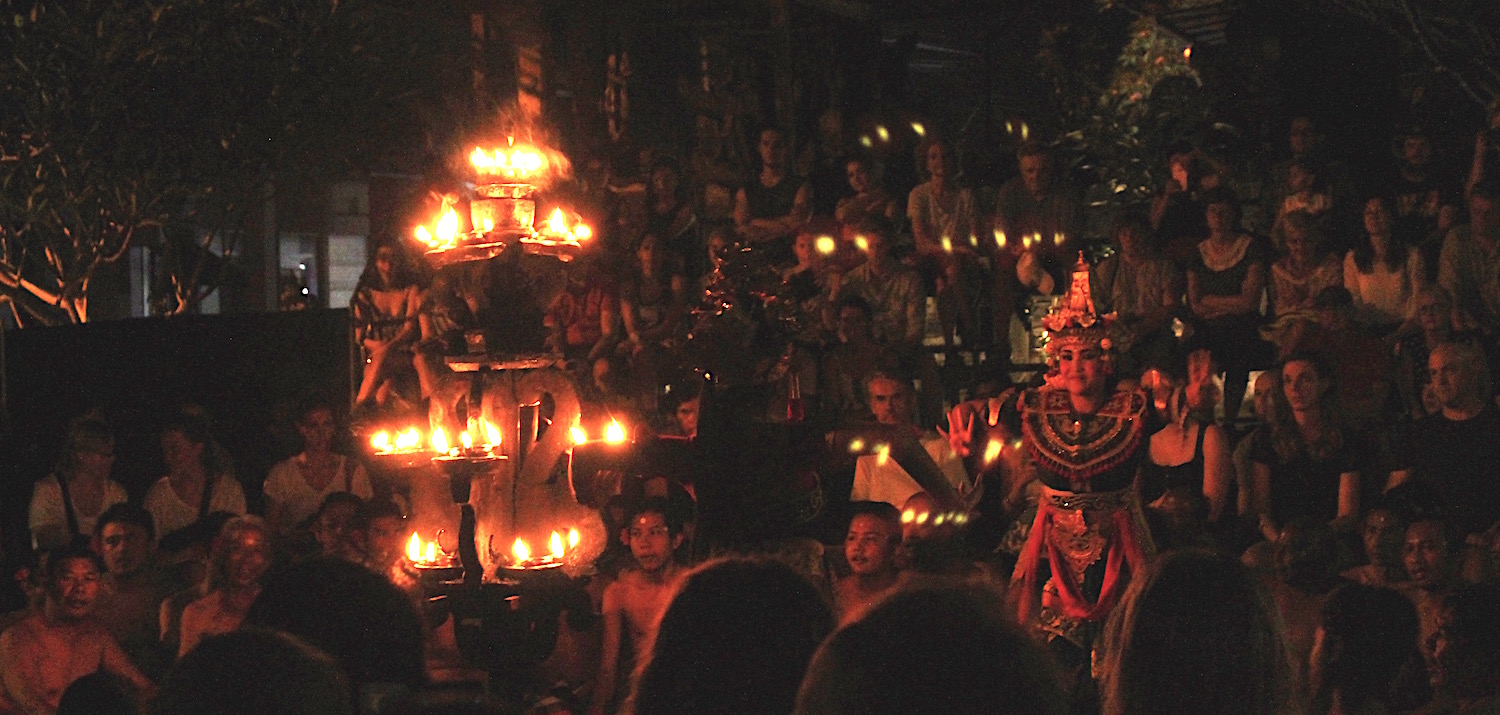 Kecak dancers perform a story from the  Ramayana  in Ubud