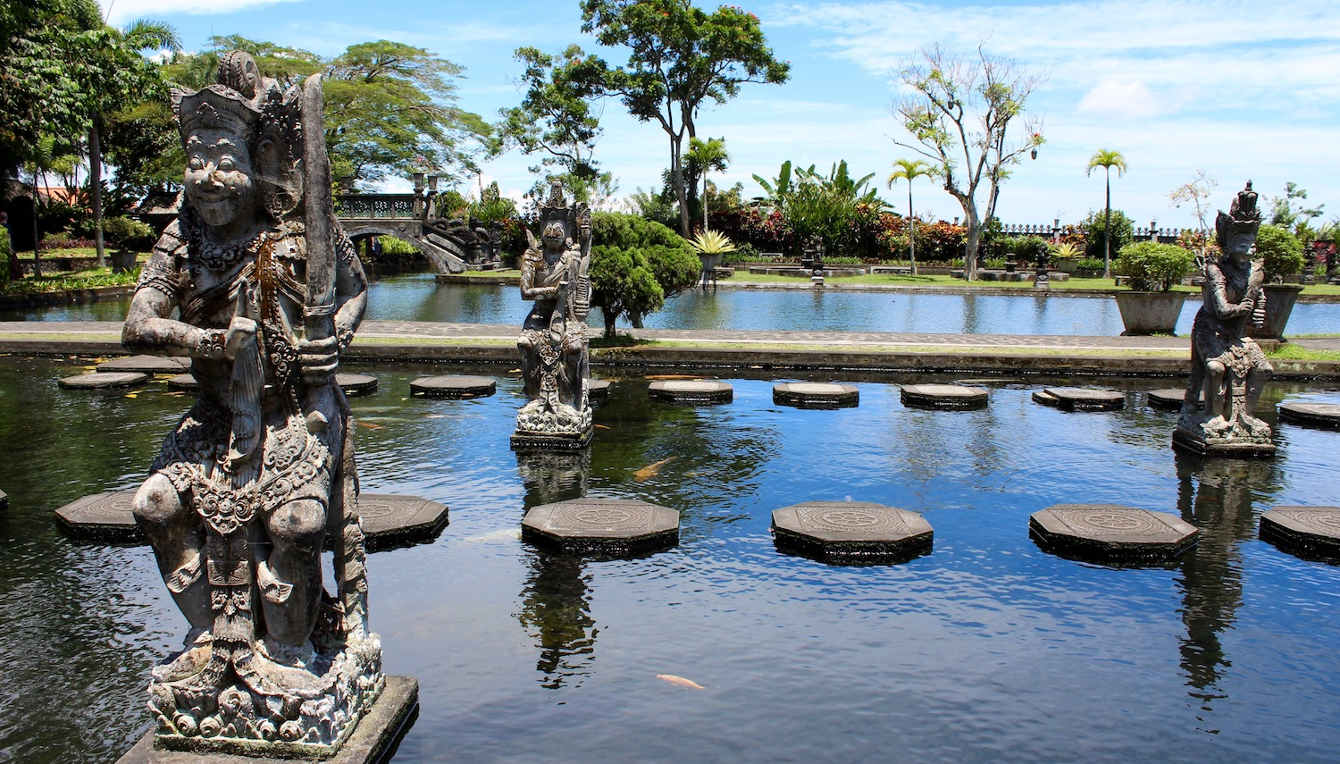 The statues and water gardens of Tirtta Gangga
