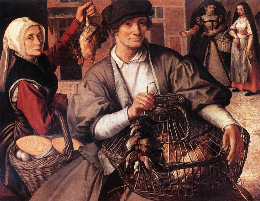 Pieter Aertsen,  Market Scene  1561.
