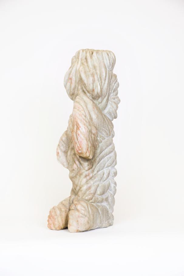 Howler,  2007 Cranberry alabaster 20 x 5 x 6 inches