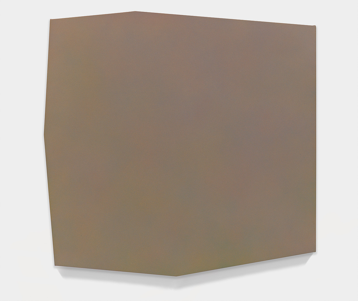 """Casting Out Sevens 8 , 2014  acrylic on shaped canvas  30.5""""' x 32"""""""