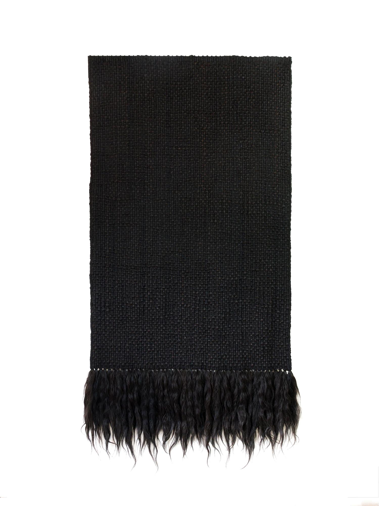 Sin Título (Hair)   Hair, fabric  66 × 36 in