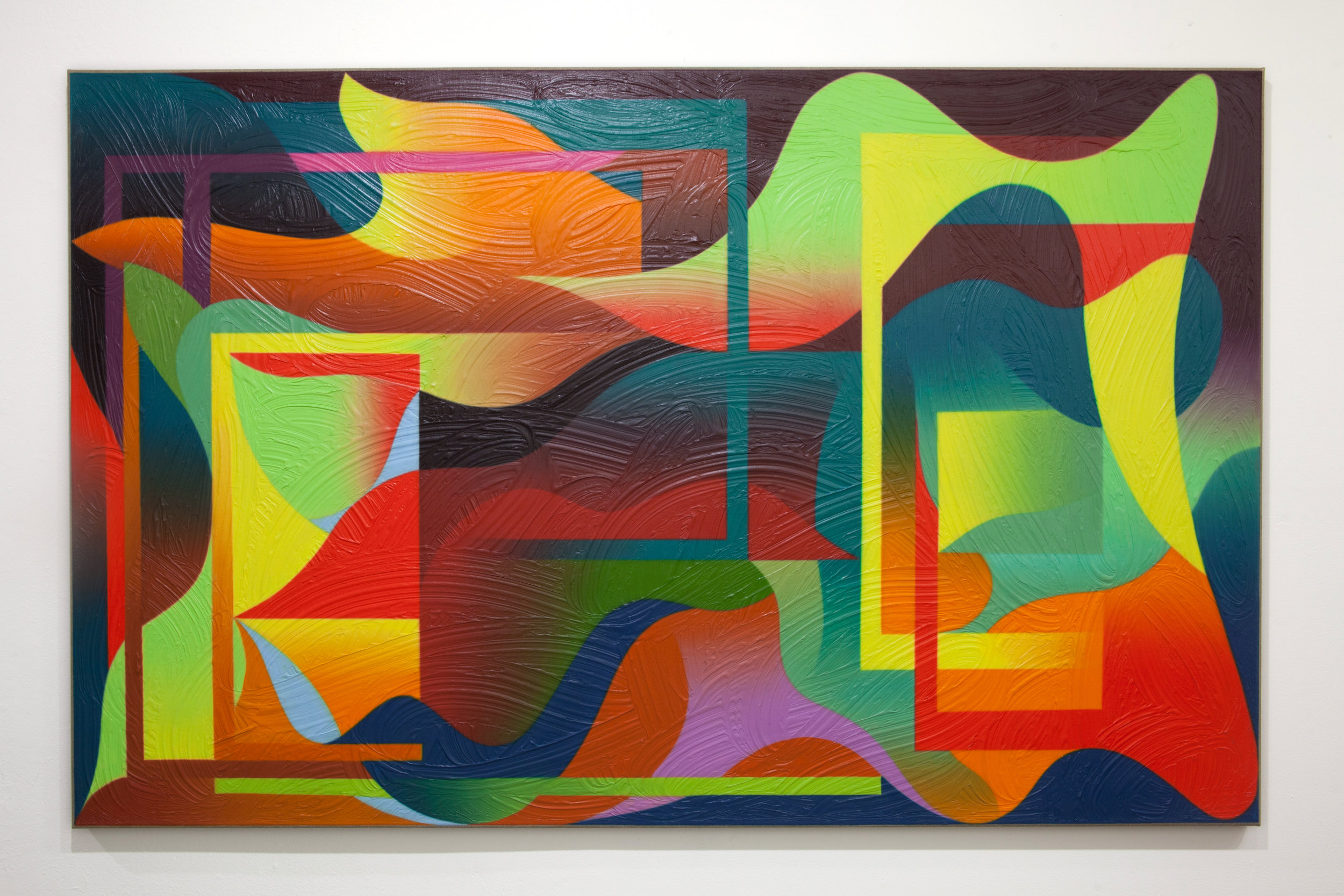 Untitled, 2018 Oil on linen 44 x 65 inches