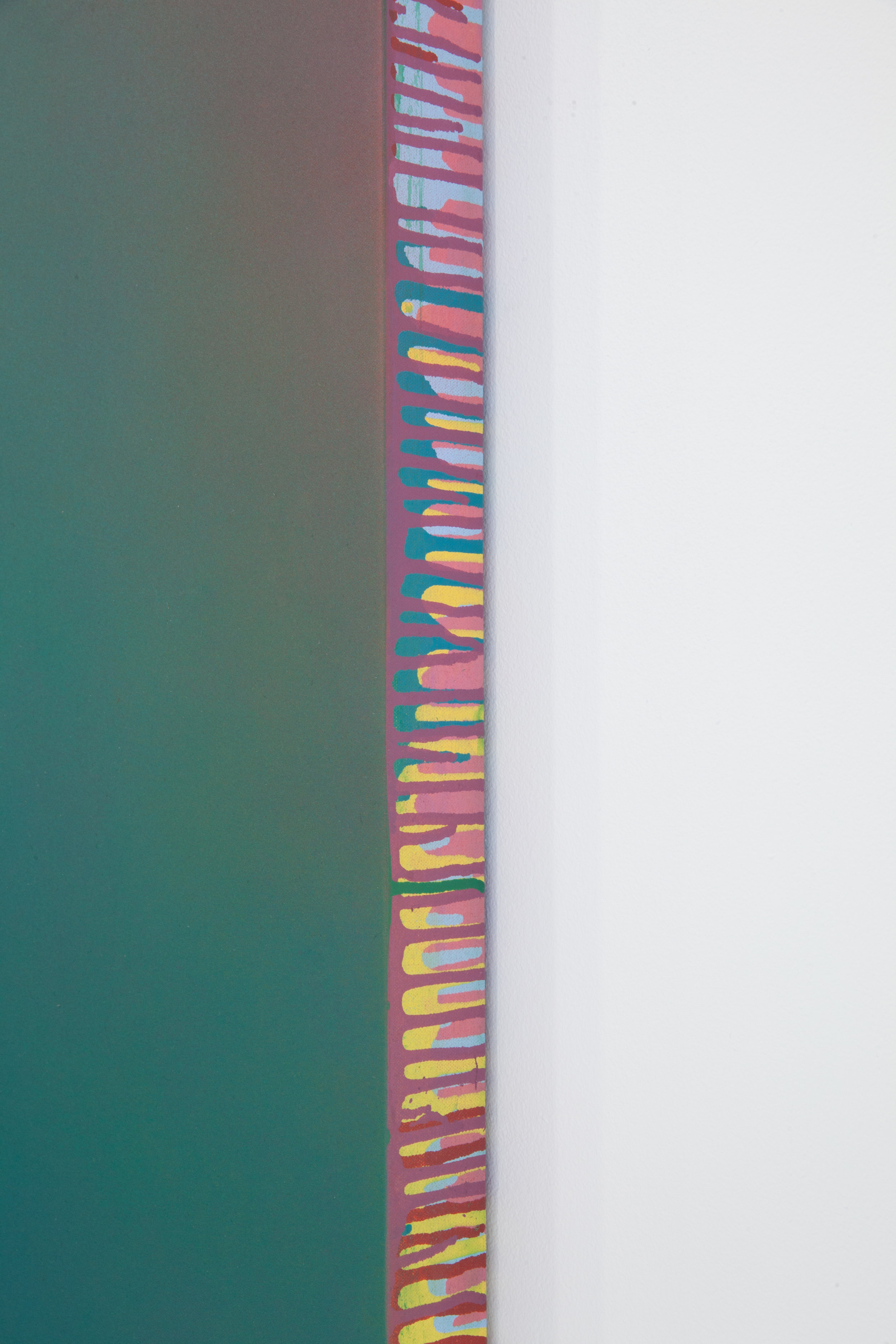 (DETAIL) Counterpart Sevens 5 B , 2018 Paint on shaped canvas Approx. 51 x 51 inches