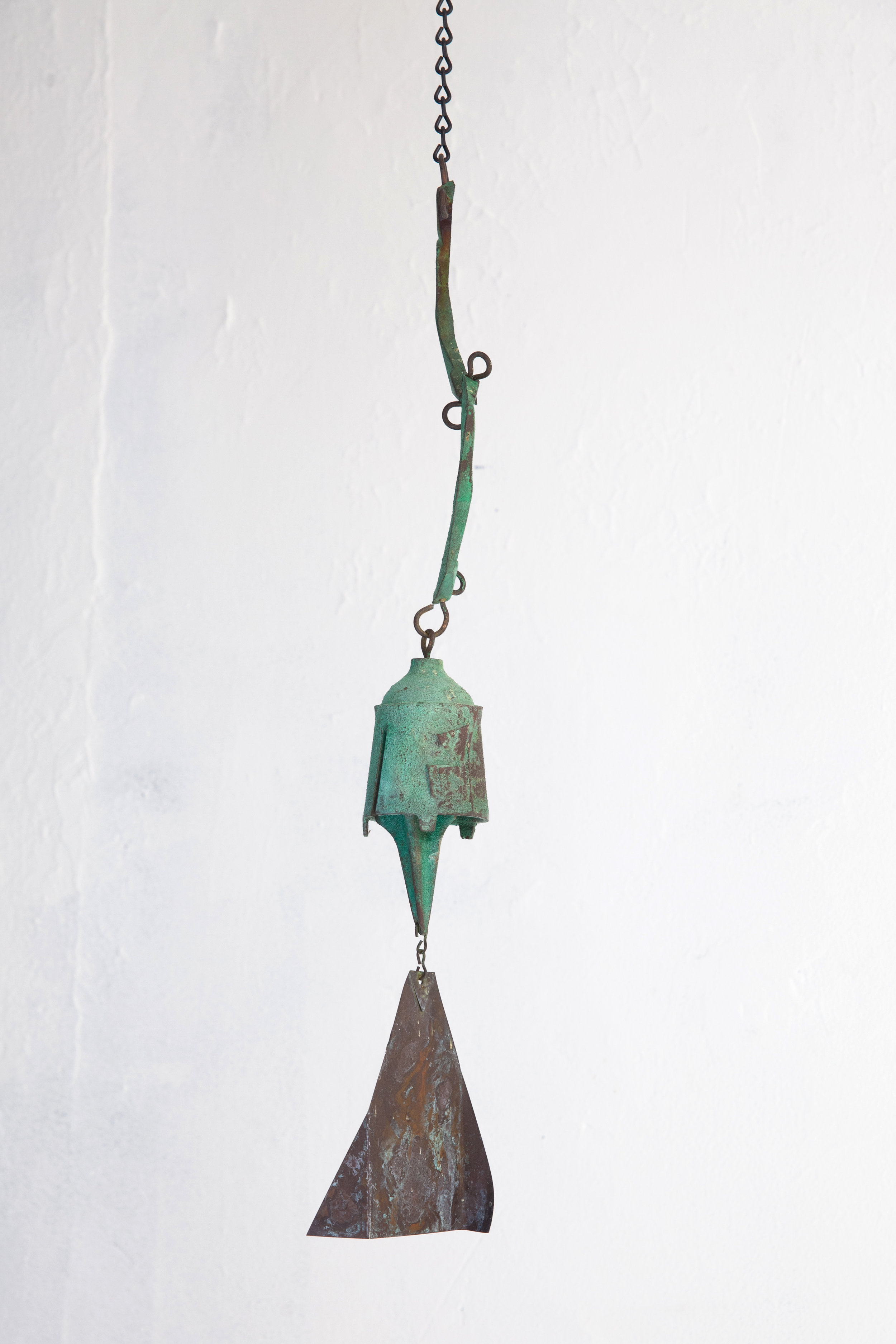 Paolo Soleri  Untitled (Bronze Bell) , Circa 1980s - 90s Bronze 21.5 x 4 inches