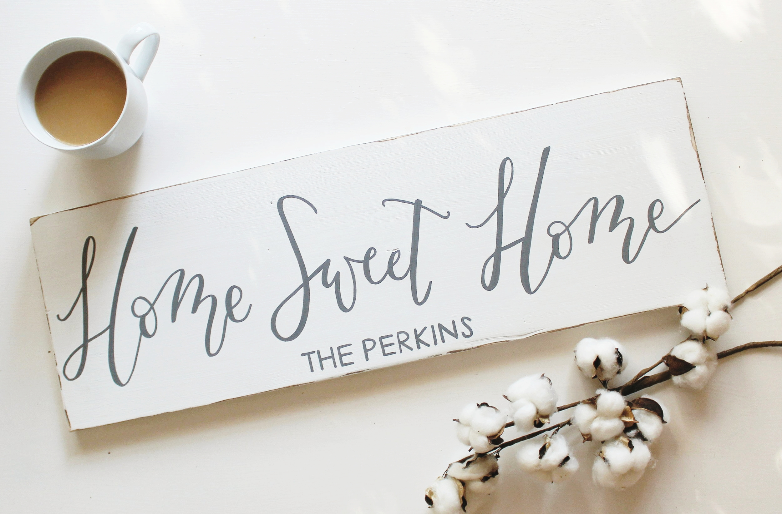 Home Sweet Home Sign-Calligraphy-Wooden Sign-Flourishing Hope Designs 1.jpg