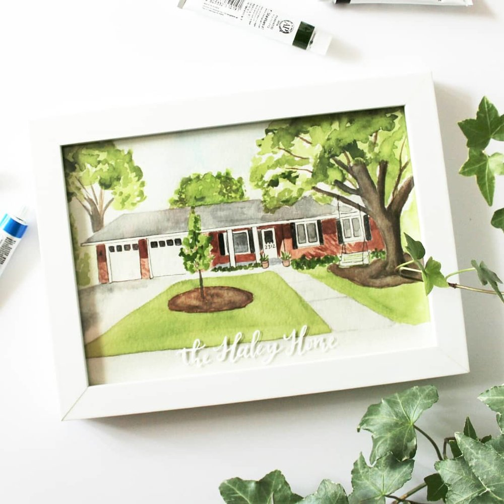 Watercolor House Portrait-Custom Painting-Home Painting.jpg