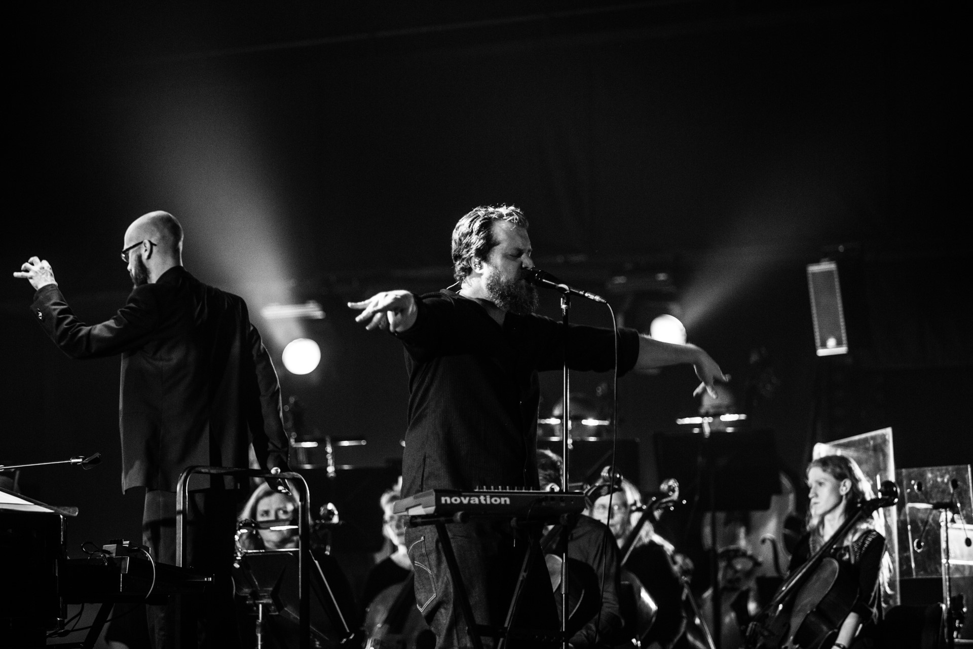 John Grant on stage at Harpa Concert Hall