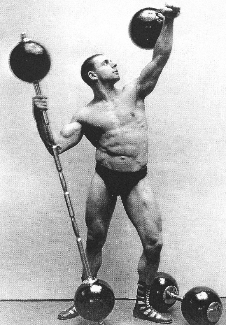 Antique Weightlifter Image