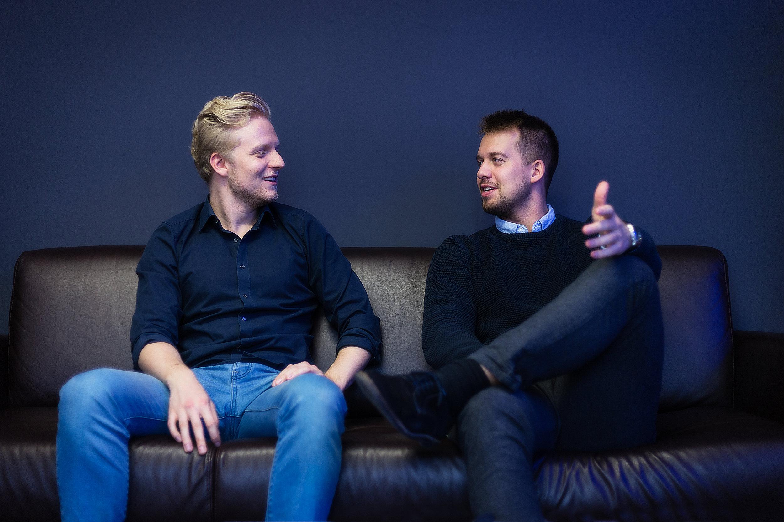 Die IMANOX Gründer (v.l.)Manuel Kolmet (Technischer Direktor) und Johannes Darrmann (Geschäftsführer)