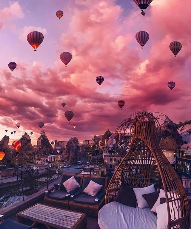 - As if plucked from a whimsical fairy tale and set down upon the stark 📍Anatolian Plains, the sun sets in Cappadocia, Turkey, 🇹🇷 where geological oddities like honeycombed hills and towering boulders of otherworldly beauty silently stand guard. . . . . 📸 @travelstogolist  #travelersofinstagram #travelersnotebook  #passportready #passport #passportpassion #wanderlust #roamtheplanet #travelers #travel #cappadocia #turkey #WorldTravel #dronephotography #anatolianplains #instatravel #outdoorphotography #photography #igpotd #photographs #instagood #instasnaps #instagram  #TravelTheWorld #photography #instatravel #dronephotography #traveljournal #dreamy #magical #otherworldly #sunset