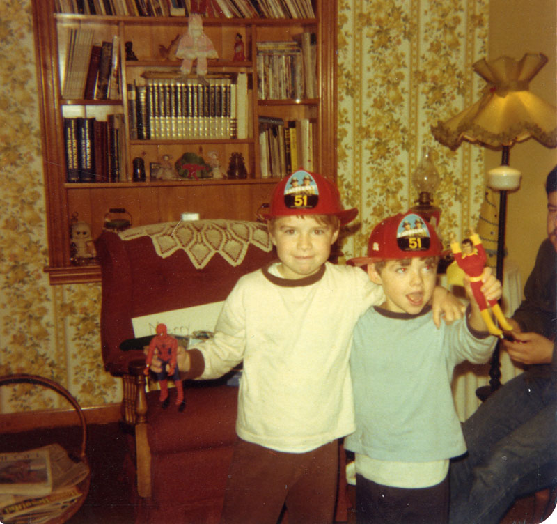 MY BROTHER, JASON (LEFT) AND ME.