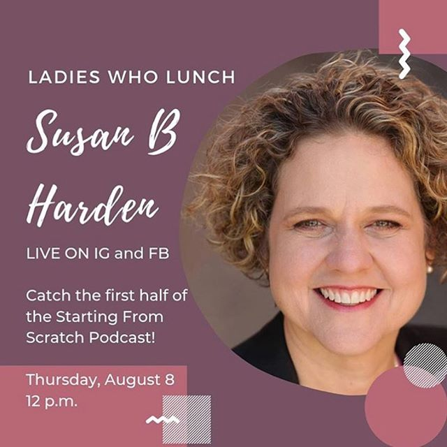Sip with Susan meets Ladies Who Lunch with @shellylhenderson this Thursday at noon. Join in here or on Shelly's IG!