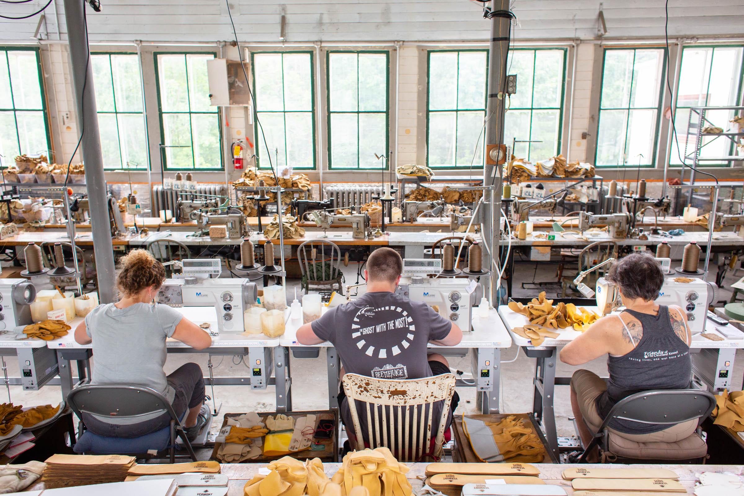 Vermont Glove Factory Floor