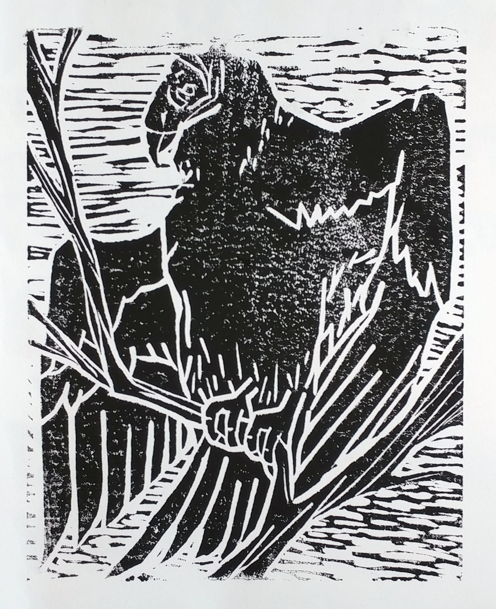 Vulture - Relief Print