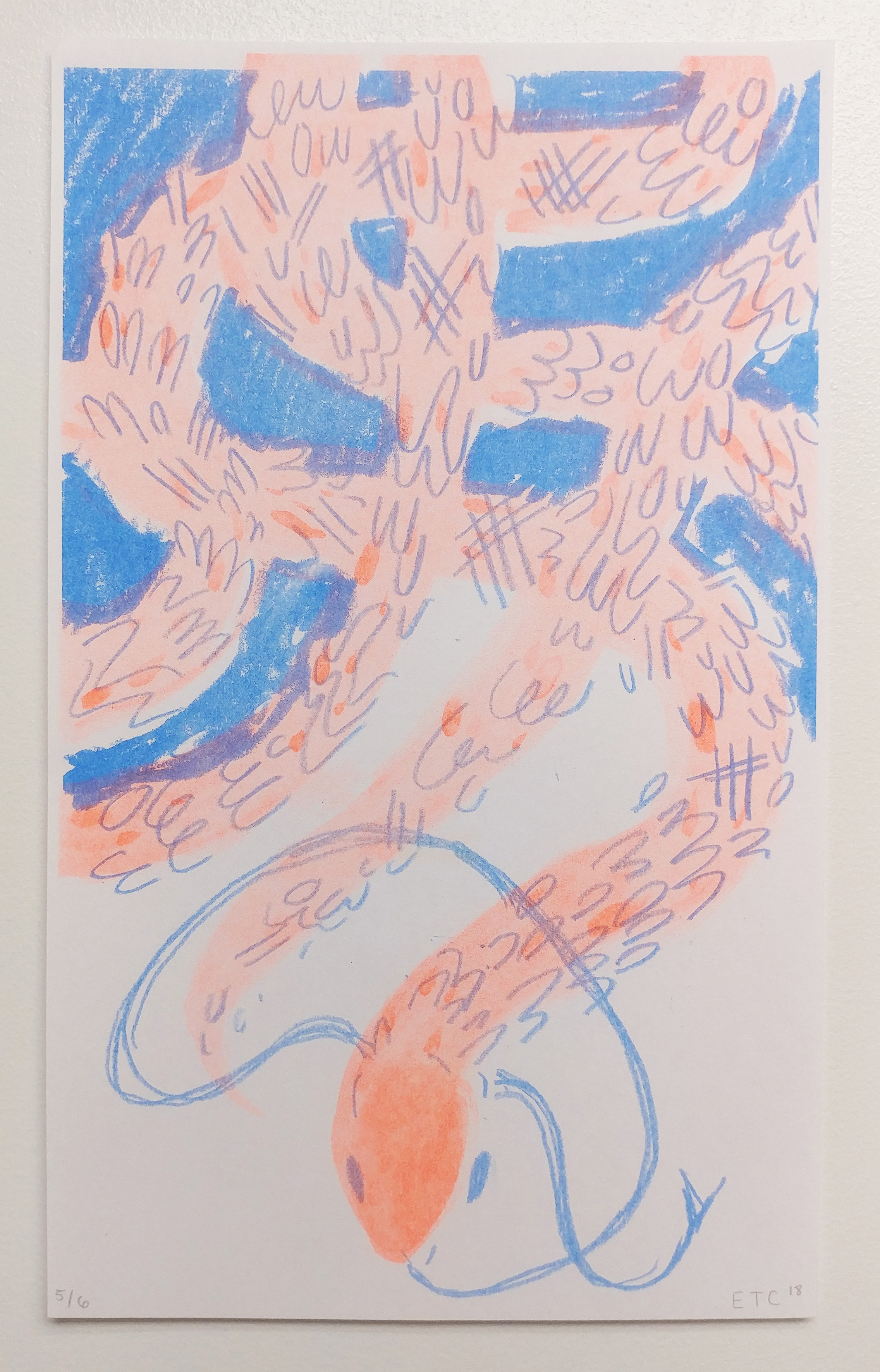 Unravel - Risograph Print