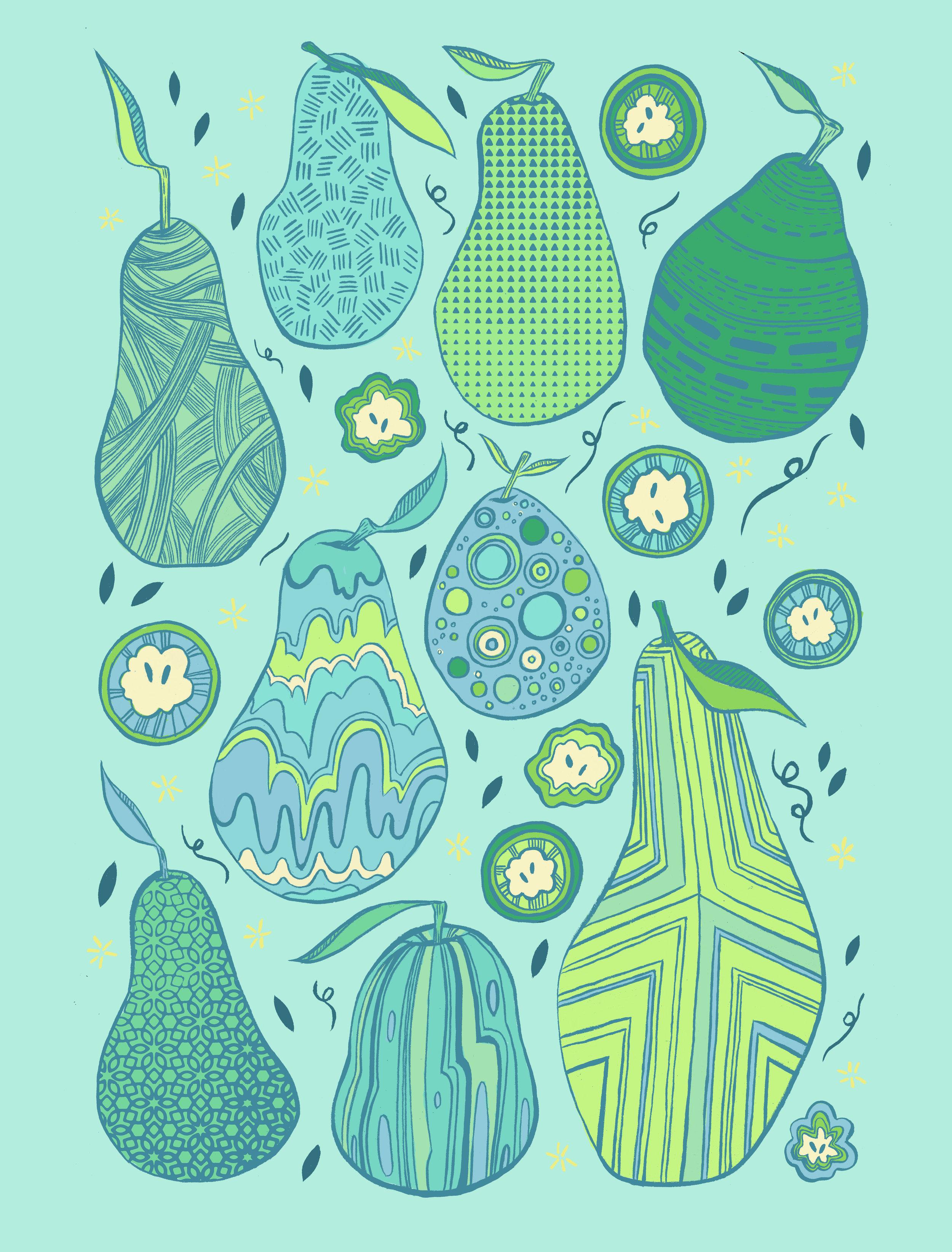 Variegated Pears