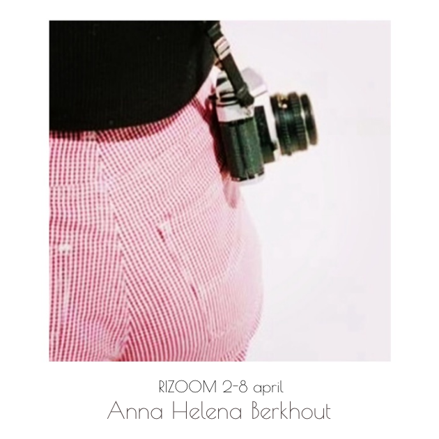 - Anna's work consists of 35mm shot images, collected from her immediate surroundings. Looking for a calm that occurs to her in the chaos of everyday life. For more work of Anna see @annahelenaberkhout on instagram and her website