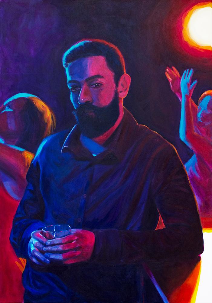 Untitled, 2018, acrylverf op doek, 100 x 70 cm