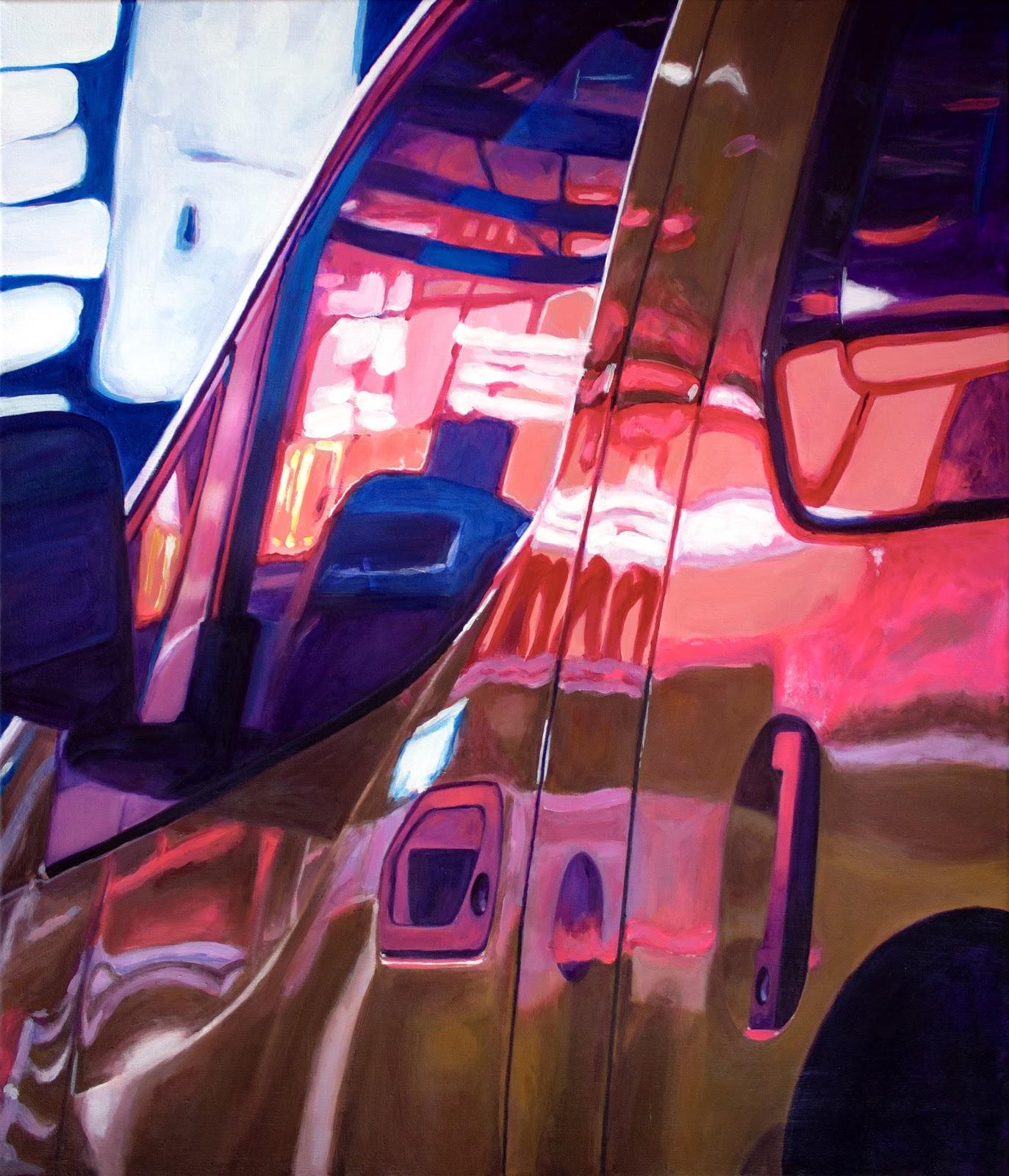 City Lights, 2019, acrylverf op doek, 70 x 60 cm