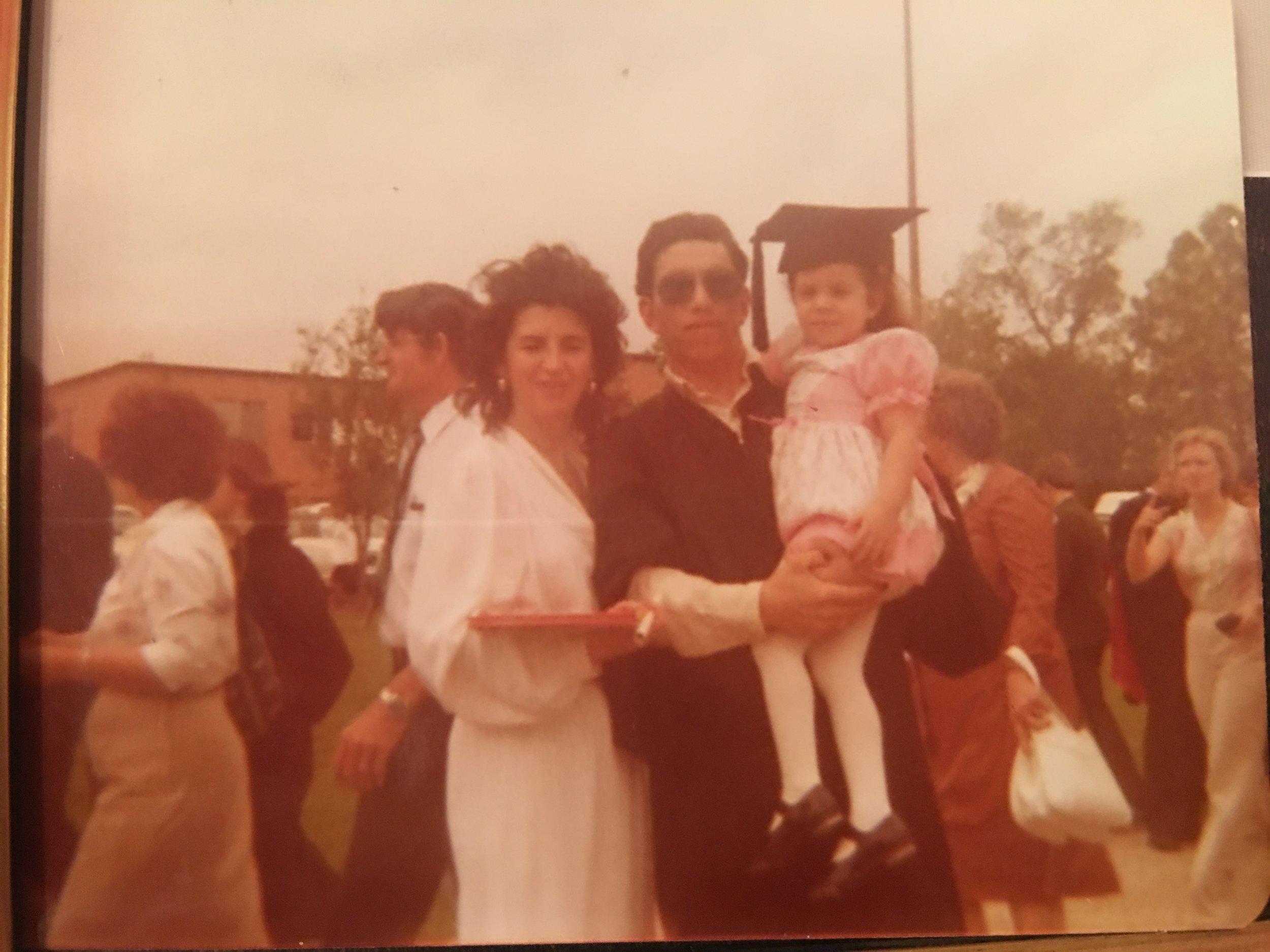 Dad's graduation, 1981.